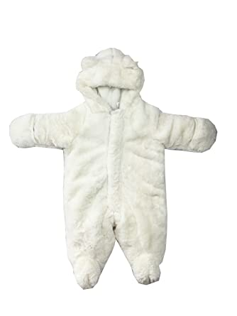 3d37f46b7 Amazon.com  First Impressions Babies  Snowsuit Angel White  Clothing