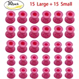 Rotus 30 Pieces Pink Hair Care Rollers Magic Hair Curlers Silicone No Clip Hair Style Rollers Soft DIY Curling Hairstyle Tools