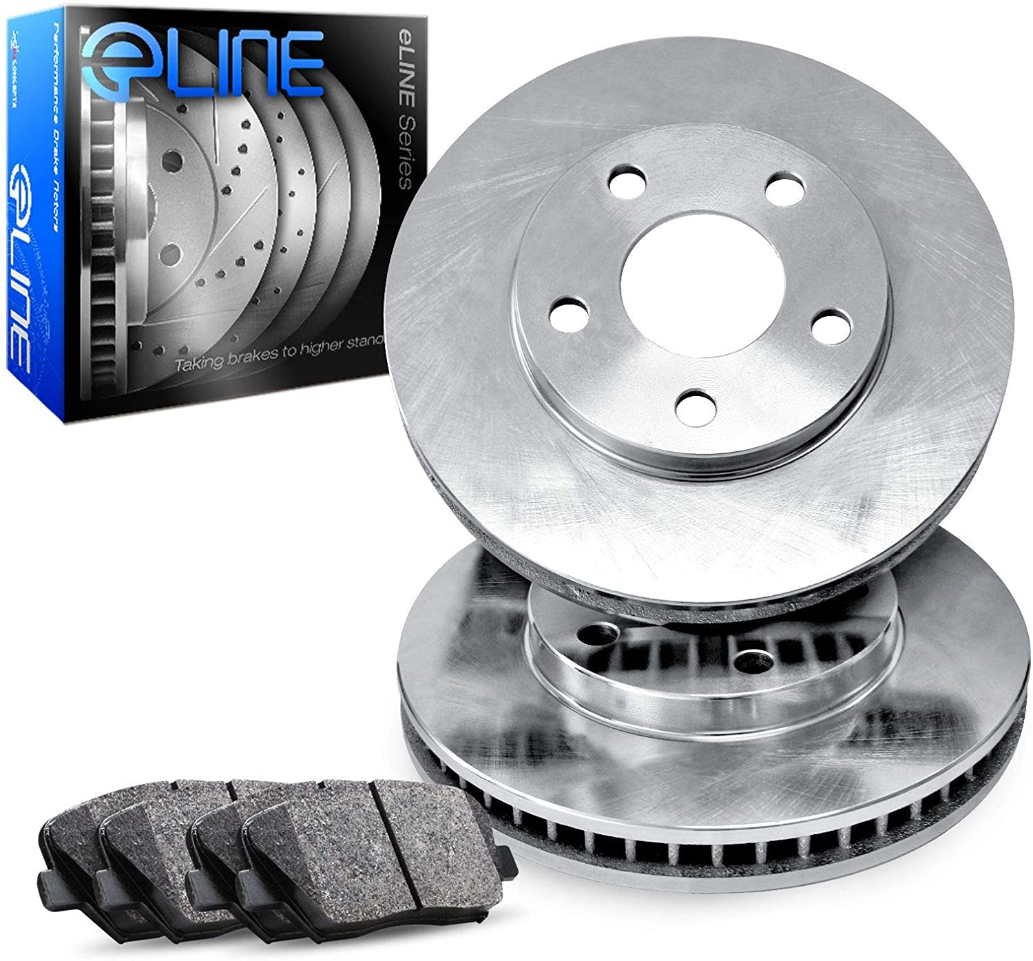For 2002-2006 Toyota Camry Front Rear eLine Drill Slot Brake Rotors+Ceramic Pads