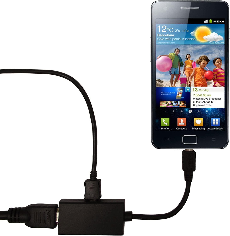 G-Hub - Adaptador MHL a HDMI para Samsung Galaxy i9100 S2 y Samsung Galaxy Note i9220