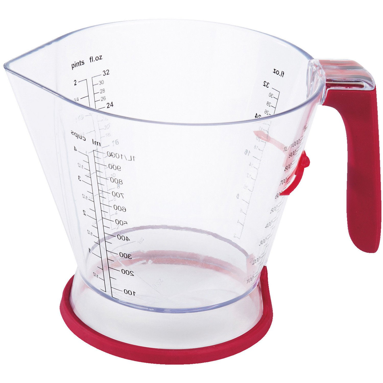 Zyliss E970039 1 Litre Measuring Jug, Transparent/Red DKB Household UK Ltd 2349716