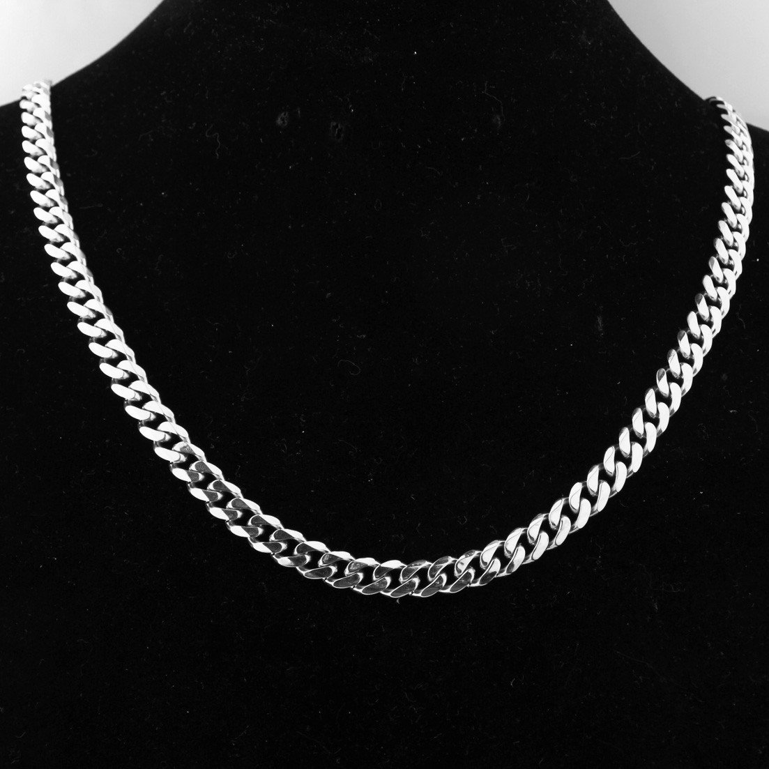 Stainless Steel 6mm Cuban Curb Link Chain Women Men Necklace 16-40
