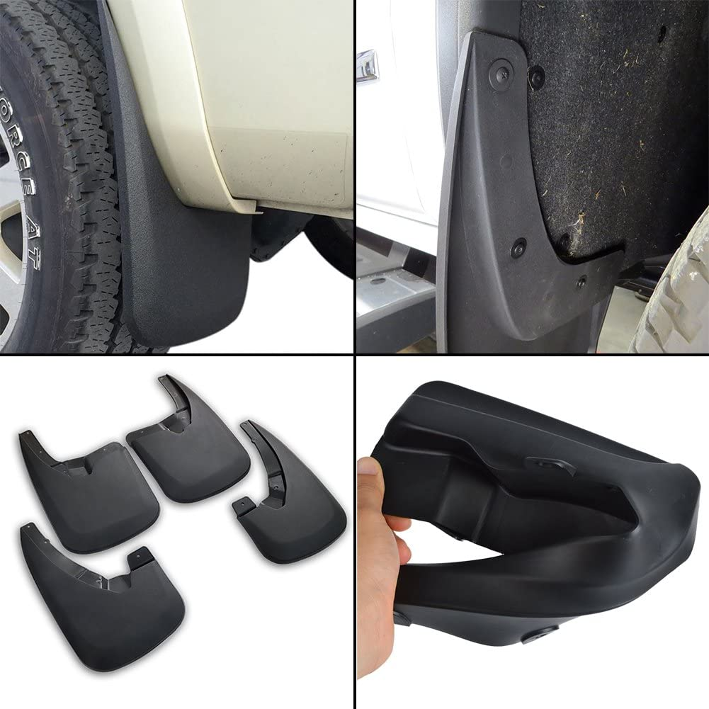 runmade Front /& Rear Splash Guard Mud Flaps for Dodge Ram 1500 Without OE Flares 2009 2010 2011 2012 2013 2014 2015 2016 2017 2018