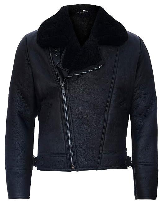 precio barato ofrecer descuentos linda Infinity Leather Chaqueta de Cuero Negro de Piel de Oveja con ...