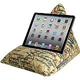 Coussin support pour iPad, tablette, liseuse, téléphone - velours doux au toucher Vintage London Map