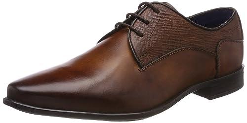 311462012100, Zapatos de Cordones Derby para Hombre, Marrón (Cognac), 42 EU Bugatti