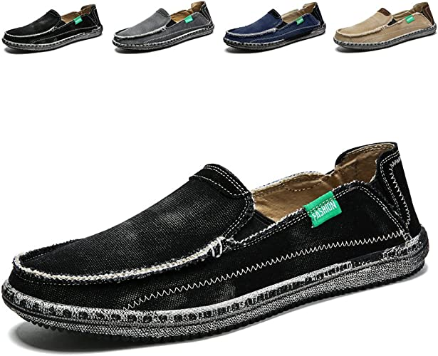 Mens Sneakers Fashion Lightweight Fashion Casual Loafers Lace Up Boat Shoes Casual Breathable Shoes for Walking