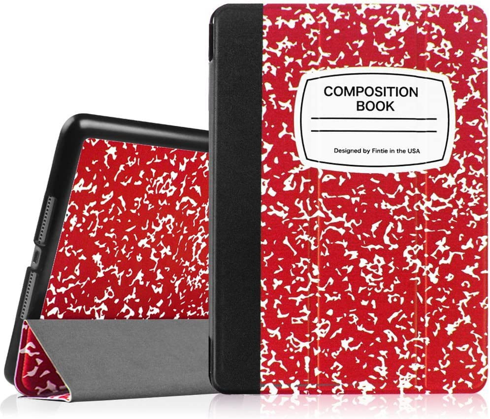 """Fintie Case for iPad Air 2 9.7"""" - [SlimShell] Ultra Lightweight Stand Smart Protective Cover with Auto Sleep/Wake Feature for iPad Air 2, Composition Book Red"""