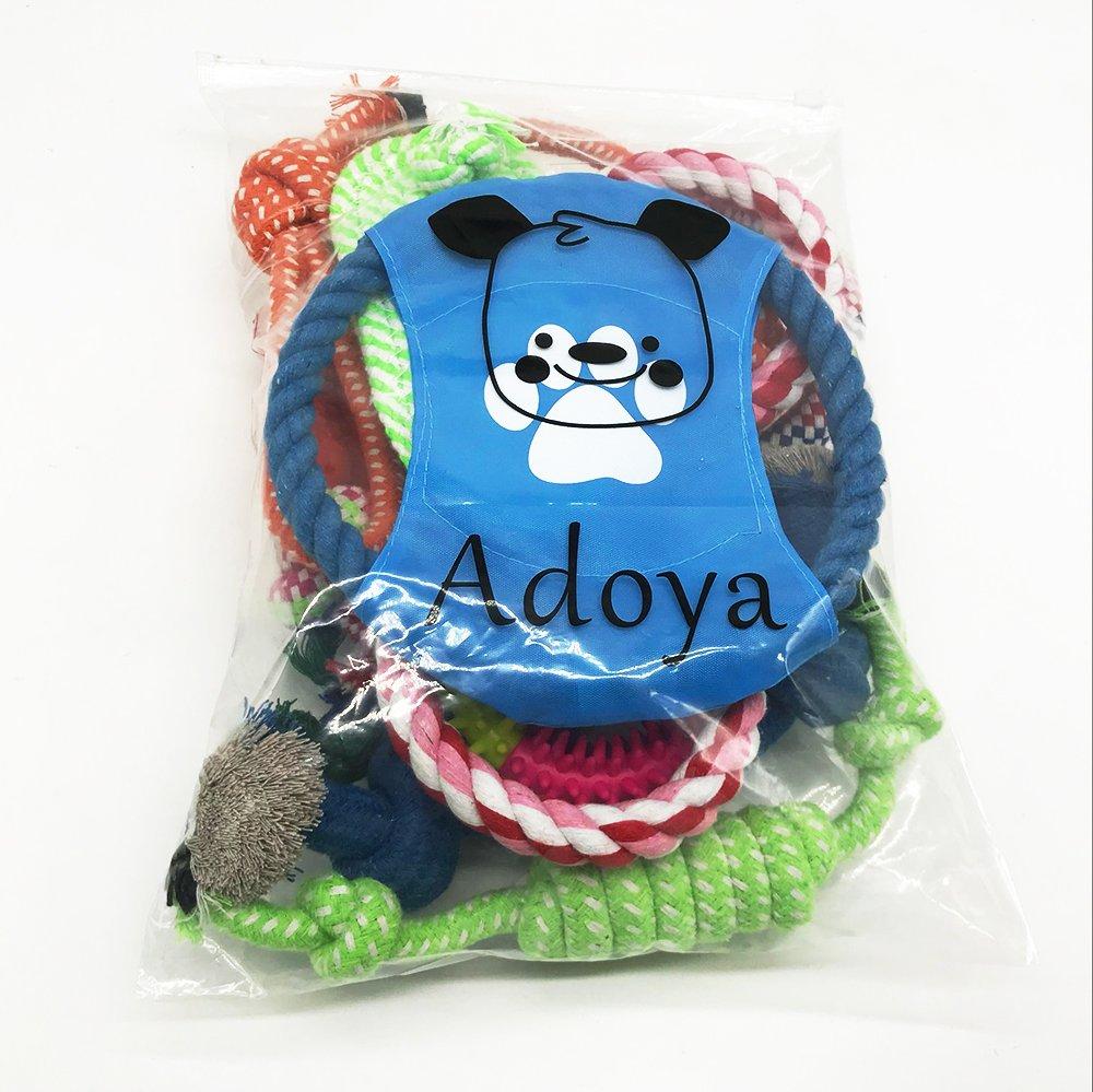 Adoriey Cane corda corda corda giocattoli 10 pezzi Set Pet Puppy Chew Toy assortimento per cani taglia piccola e media 53730f