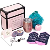 Wine Gifts for Women Wine Tumbler Birthday Gift for Wine Lover Christmas Gift Basket for Mom Wife Sister Girlfriend Bottle Op