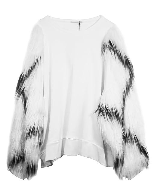 Zara - Sudadera - para mujer blanco blanco crema Medium: Amazon.es: Ropa y accesorios
