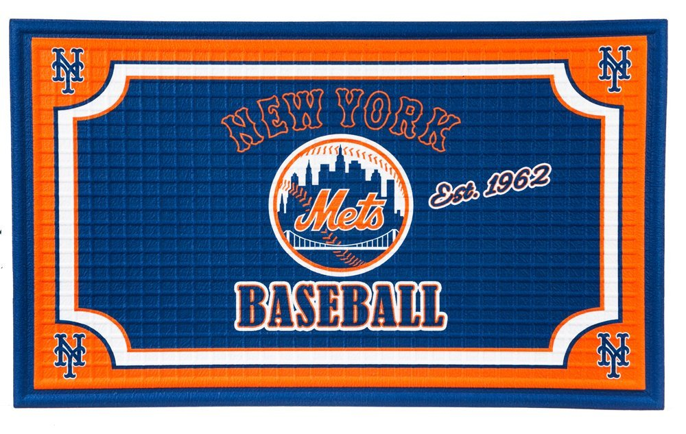Team Sports America New York Mets Embossed Floor Mat, 18 x 30 inches
