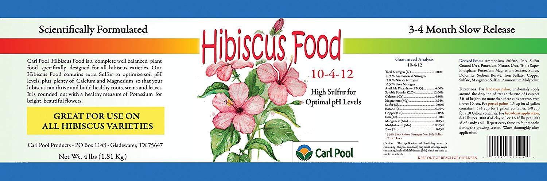 Amazoncom Hibiscus Plant Food 10 4 12 4 Lbs Fertilizers