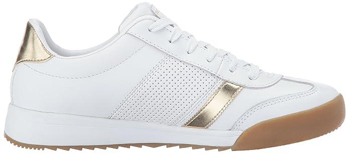 Skechers Zinger-Flicker, Zapatillas para Mujer, Blanco (White/Gold), 35 EU