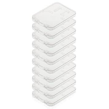 POPPSTAR - Forros para Tarjetas de Memoria, Caja para Guardar una Micro SD, SD y MMC, Modelo 2017