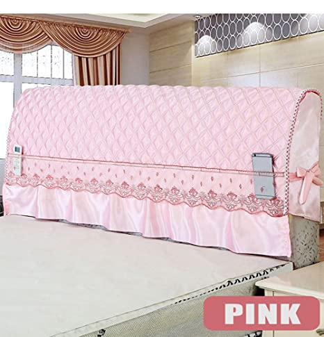 Amazon.com: WOMACO Lace Bed Headboard Cover Romantic Bedroom ...