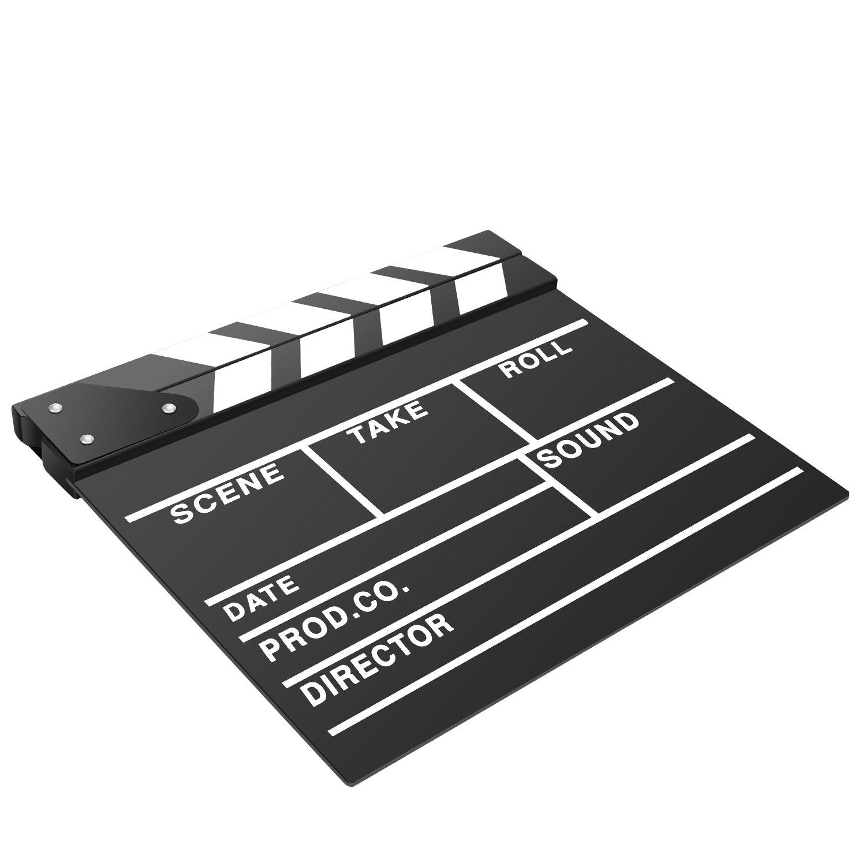 Neewer 25 x 20 cm de acr/ílico para Pizarra Director es de Pantalla tromboange/ítis Pizarra con Varillas de Color