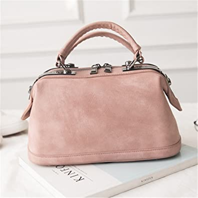 07b0dd5a3edc Image Unavailable. Image not available for. Color  B dressy New Spring  Summer Doctor Bag Handbags Women Fashion Pink ...