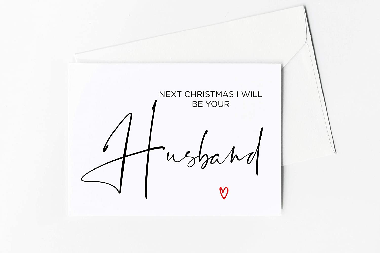 Amazon Com Christmas Card For Fiance Next Christmas I Will Be Your Husband Gift For Girlfriend Xmas Card Handmade