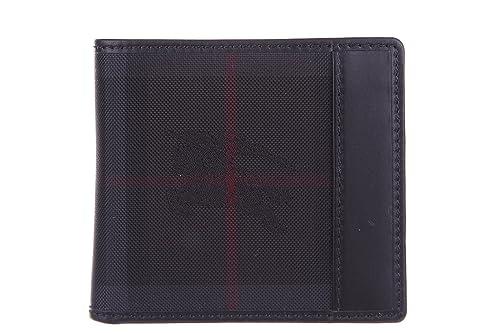 8f3098ad6a Burberry portafoglio portamonete uomo in pelle bifold bill coin nero:  Amazon.it: Scarpe e borse