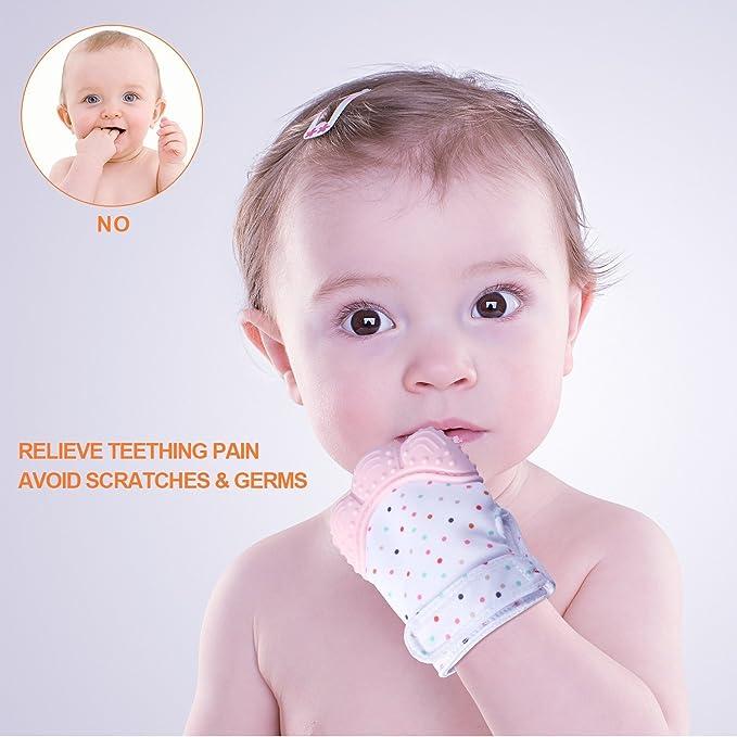 Baby zahnen Gants F š ¹ R bébé nouveau-né pour les   Silicone zahnen  soulager la douleur. Mitt   Safe Food Grade zahnen Mitt F š ¹ R 3-18 mois  sans BPA ... 6b76e3a51be