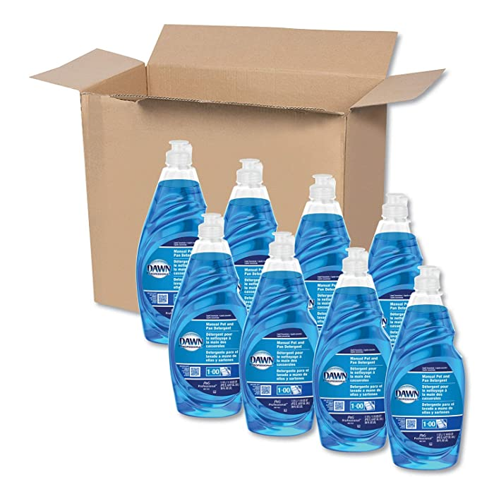 Dishwashing Liquid Soap Detergent by Dawn Professional, Bulk Degreaser Removes Greasy Foods from Pots, Pans and Dishes in Commercial Restaurant Kitchens,Regular Scent, 38 oz. (Case of 8)