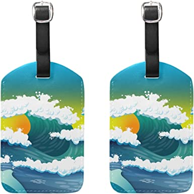 2 Pack Luggage Tags Dolphins Ocean Cruise Luggage Tag For Suitcase Bag Accessories