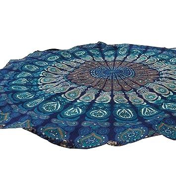 1487c9870e6f3 Usstore Round Hippie Tapestry Beach Throw Pool Home Beach Cover Up Bikini  Boho Dress Swimwear Bathing