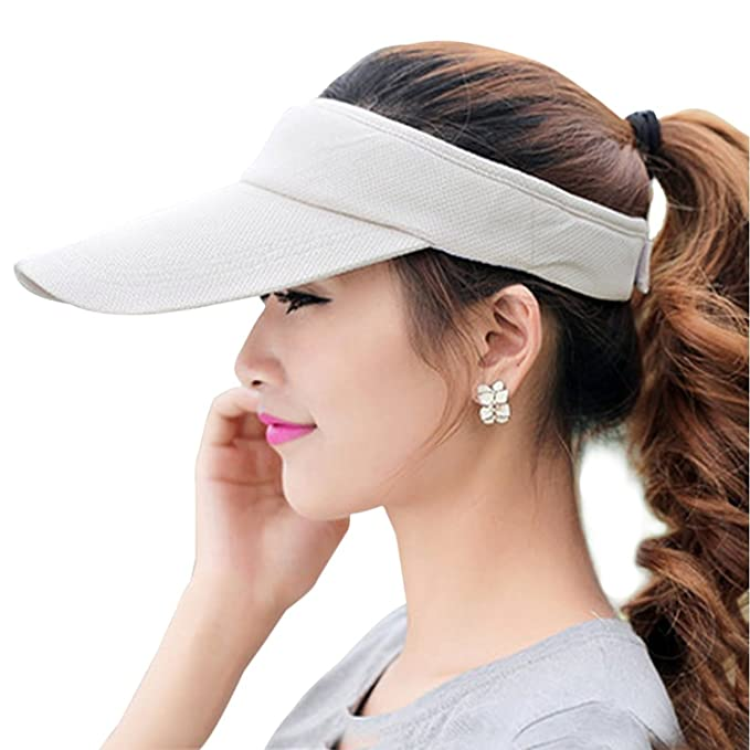 98c537b3 Fasbys Multiple Colors Sun Visors for Women and Men, Long Brim Thicker  Sweatband Adjustable Hat