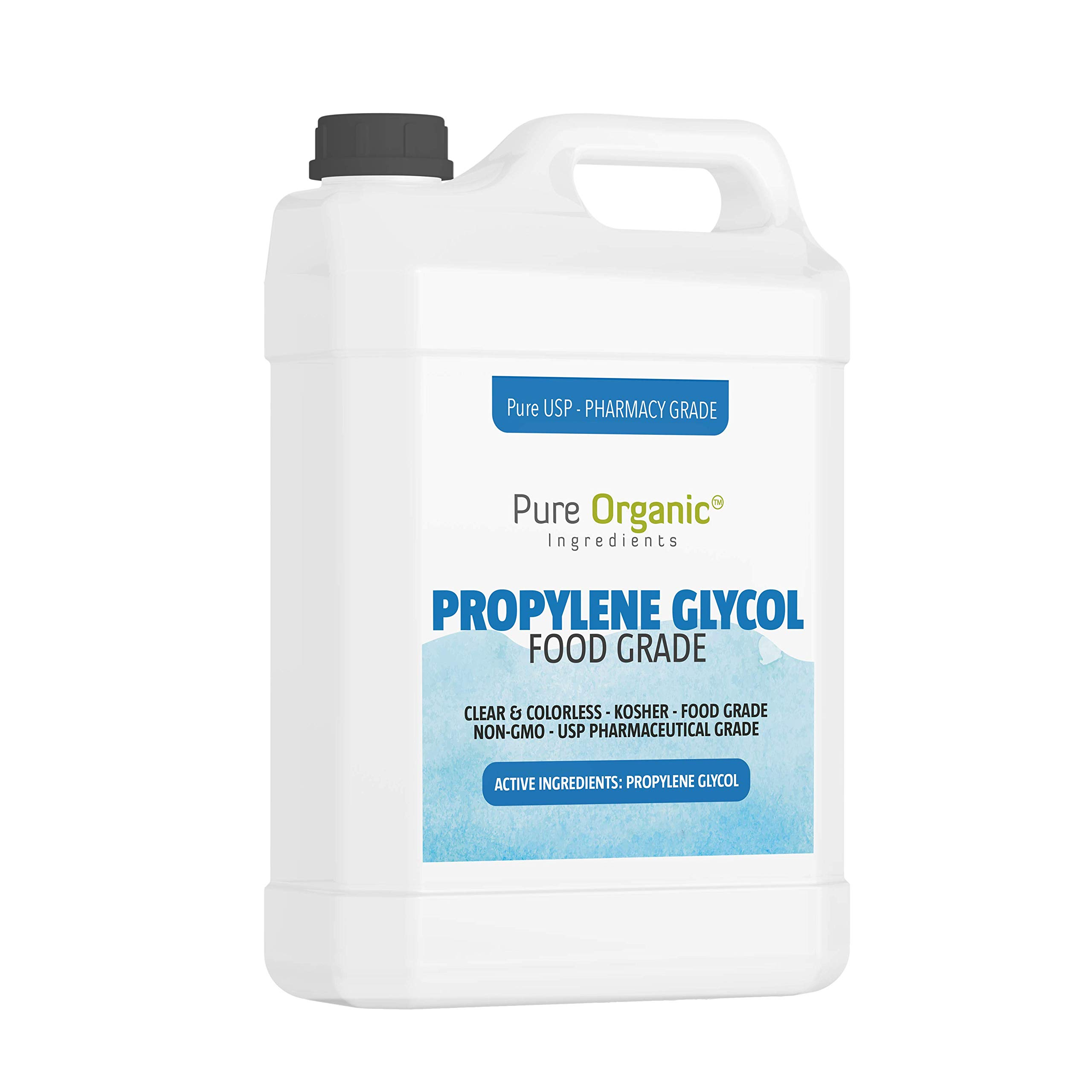 Propylene Glycol (1 Gallon) by Pure Organic Ingredients, Lower Freezing Point, Use in Moisturizers and Cosmetics, Humectant, Preservative, Solvent, Eco-Friendly Antifreeze, Winterize Water Systems by Pure Organic Ingredients