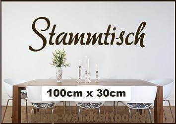 Stammtisch als Wandtattoo Spruch Küche Wohnzimmer Farbe schwarz ...