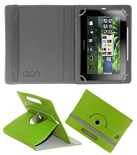 Acm Rotating 360° Leather Flip Case for Blackberry Playbook 4g Cover Stand  Green