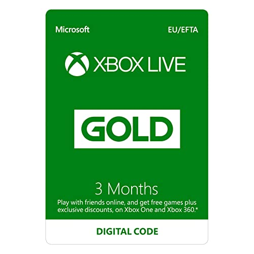 Xbox Live 3 Month Gold Membership | Xbox One/360 | Xbox Live Download Code