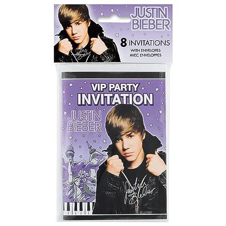 Bravado   Inviti per feste con buste, immagine di Justin Bieber