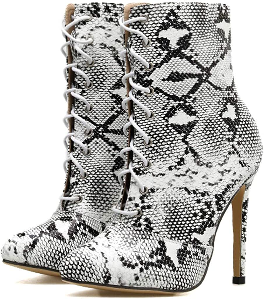 koperras Femmes Serpentine Cross Strap Stiletto Chaussures