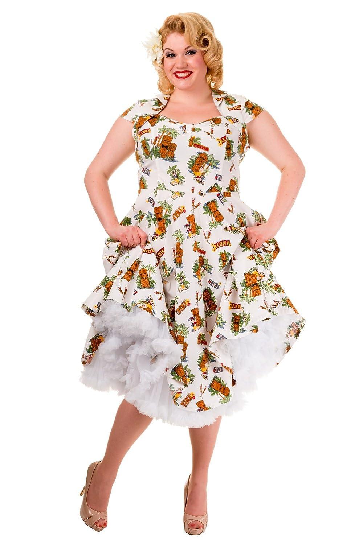 Banned Dreamer Tiki Print Vintage Dress - Plus Size at Amazon ...