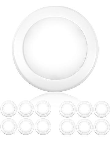 "c04766be557 Parmida (12 Pack) 5 6"" Dimmable LED Disk Light Flush Mount Recessed"