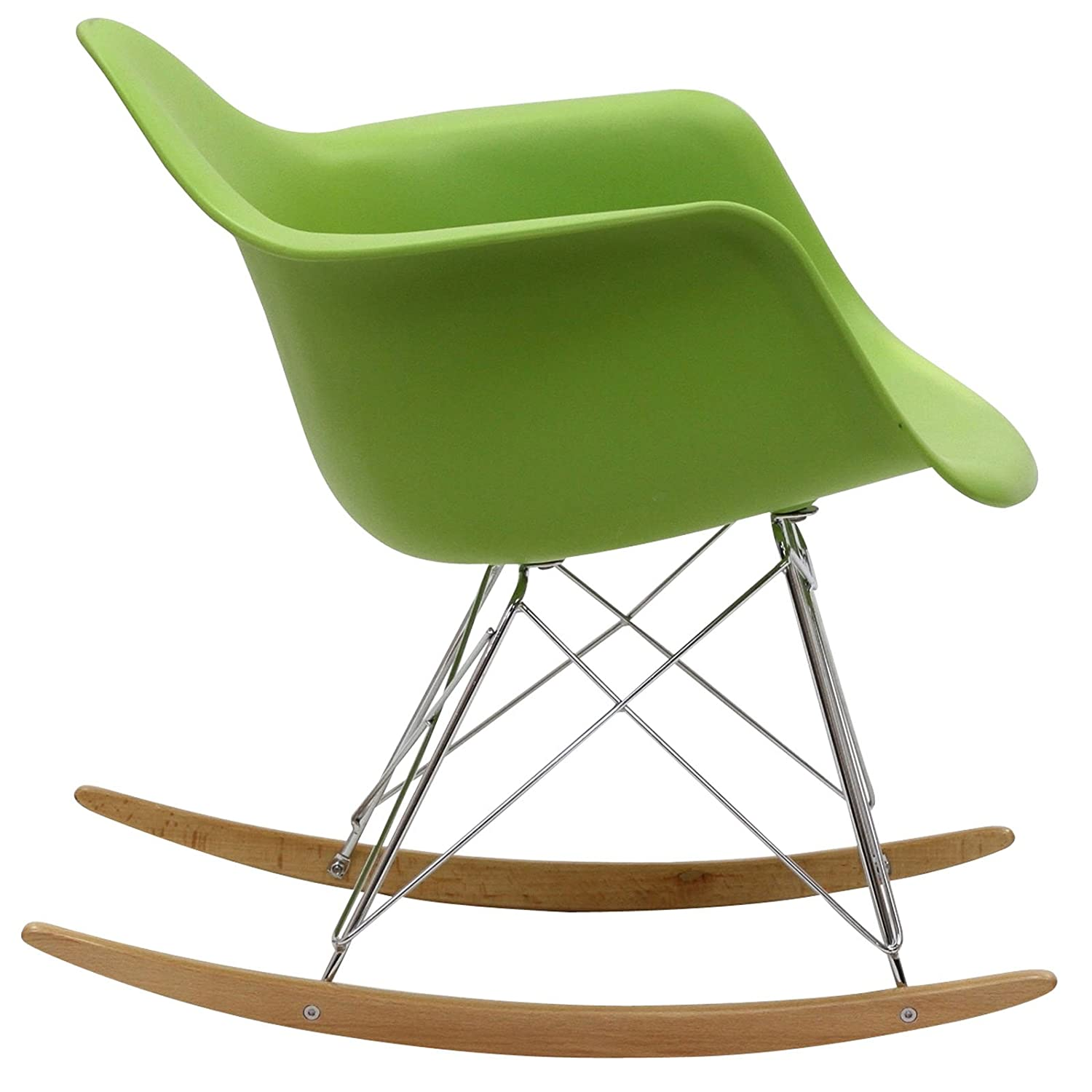 eames rocking chair green. amazon.com: modway molded plastic armchair rocker in green: kitchen \u0026 dining eames rocking chair green a