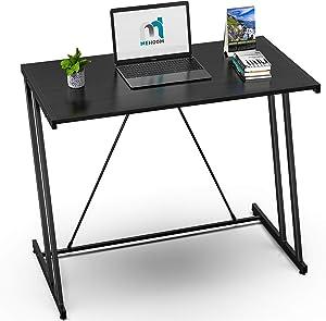 "Computer Desk Mehoom Study Desk for Home Office, Writing Desk for Small Space Office, Modern Simple Design Laptop Desk, Small Computer Table, 35.4"" Black Corner Desk"