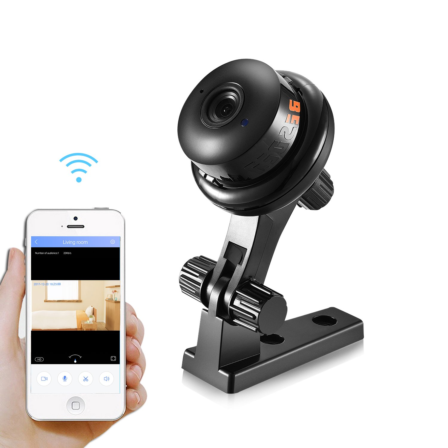 BESDER 720P HD Mini WiFi Camera, Wireless Security IP Camera, Home Nanny  Camera with Night Vision Two Way Audio Motion Detection Email Photo Baby