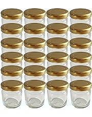 20er Set Sturzgläser Mini Gläser 53 ml Deckelfarbe Gold To 43 Rundgläser Honig Kaviar Marmeladengläser Obstgläser Einweckgläser Honig Gläser Einmachgläser Portionsgläser Probiergläser Imker