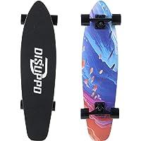 DISUPPO Cruiser Skateboard, patineta Completa para Principiantes, 7 Capas de Arce de Nivel A, Doble Patada cóncava…