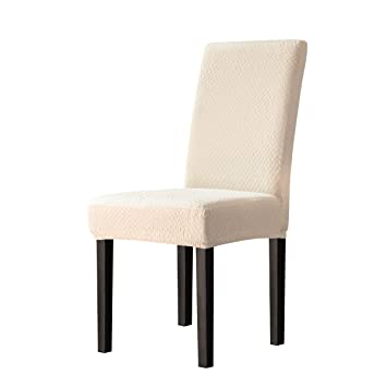 Incredible Toyabr Dining Chair Covers Seersucker Stretchy Spandex Chair Protecter Slipcovers For Banquet Wedding Party Dining Room 4Pcs Cream Ivory Uwap Interior Chair Design Uwaporg