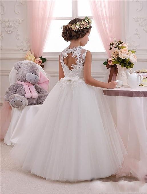 KekeHouse® Cordón Vestido de niña de Flores Tul Vestido de Primera ...