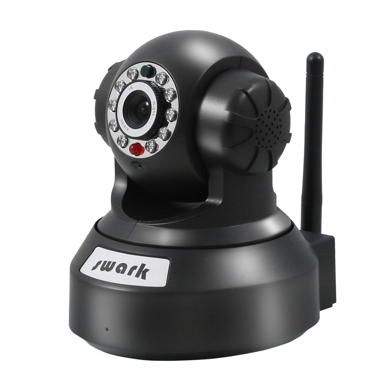 Swark WiFi Camera Pet Camera, Wireless IP Camera 720p HD Night Vision, Pan Tilt Zoom Home Camera with Android/iOS/PC Software - Black