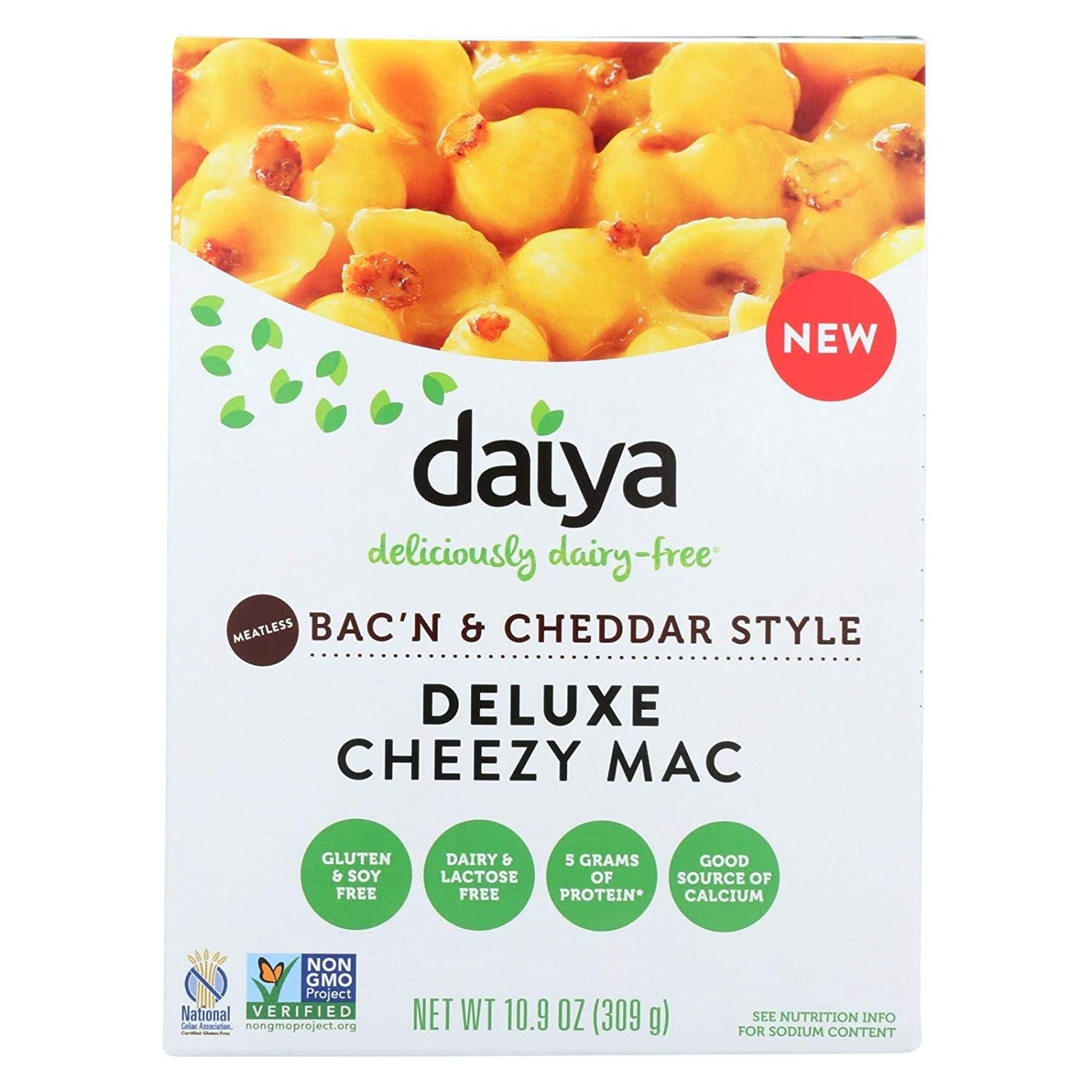 Daiya Cheezy Mac, Meatless Bac'n & Cheddar Style :: Rich & Creamy Plant-Based Mac & Cheese :: Deliciously Dairy Free, Vegan, Gluten Free, Soy Free :: With Gluten Free Noodles, 10.9 Oz. Box (2 Pack)