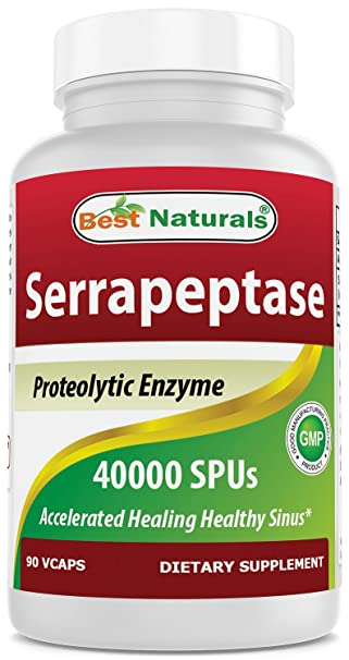 Amazon.com: Best Naturals Serrapeptase 40000 spus 90 Vcaps ...
