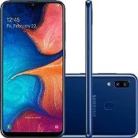 "Smartphone Samsung Galaxy A20 32GB Dual Chip Android 9.0 Tela 6.4"" Octa-Core 4G Câmera Dupla 13MP + 5MP Azul"