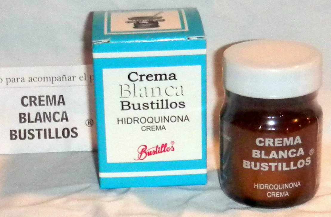 Crema Blanca Bustillos Hidroquinona - Lightening Cream Glass Bottle 40g Mexico