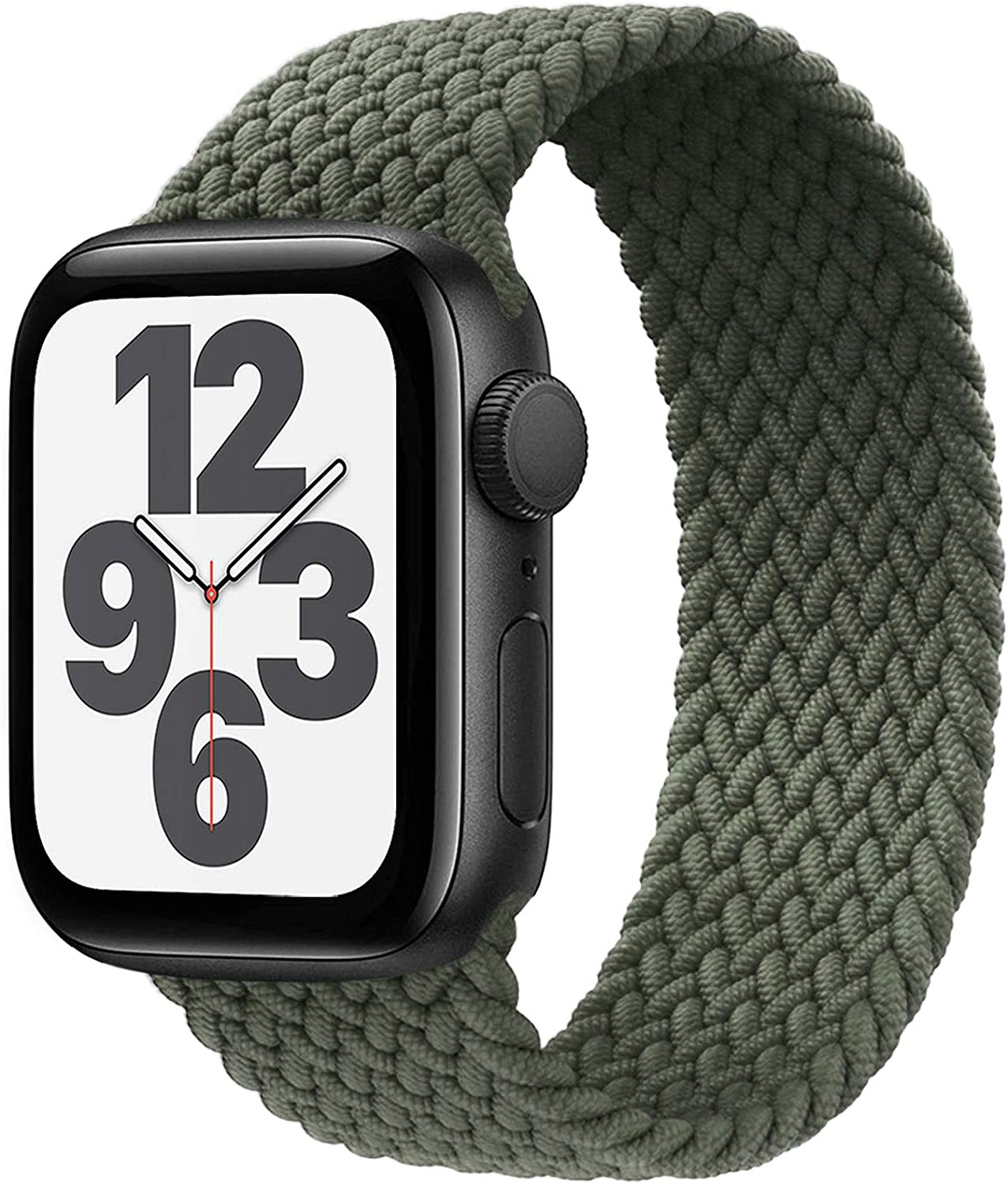 FnKer Braided Solo Loop Compatible with Apple Watch Bands 44mm/40mm SE/Series 6 Strap, Stretchable Woven Elastics Compatible with iWatch Series 5/4/3/2/1 38mm 42mm-(Inverness Green-38/40-3)